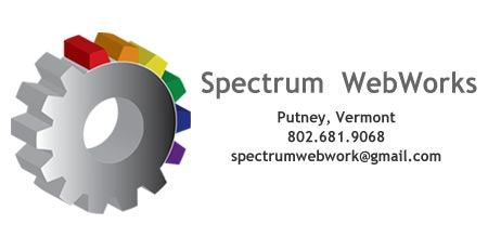 Spectrum Webworks - Website Management, development, design, Bennington VT, Putney VT